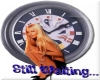 Blonde with clock