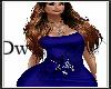 blue wolf cat dress