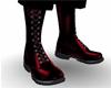 Red Vampire Combat Boots