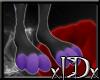 xIDx Purple Dotty Feet M