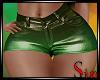 Metallic Shorts - Limes