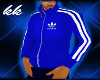 ![KK] BLUE ADIDAS JACKET