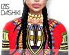 I│African Dashiki Red