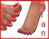 TippyToe Feet-Red