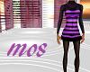 Purple Striped Woolen