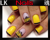 *LK* Nails black/Yellow