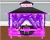 purple and black hut