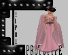 AO~Blk Pink Elegant Gown