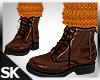 Fall Boots wSock Pumpkin