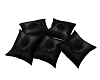Pillow Poses Blk Leather
