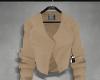 Cropped blazer, beige.