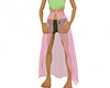Pink xmas girl skirt