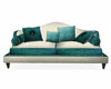 Sweet Teal & Cream Couch
