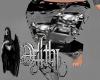 pvc skull pants