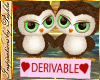 I~Dev Cute Owls*Green