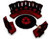 Red & Black Couch Set