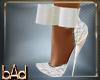 Mara White Bow Heels