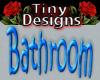 *T Neon Bathroom Sign