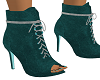 Teal/Silver Suede Boot