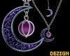Galaxy Moon Necklace S