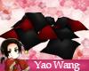 Black & Red Cushion Pile