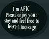 DM AFK sign