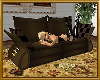 *G* Stylish BrwGold Sofa
