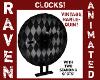 VINTAGE HARLEQUIN CLOCK!