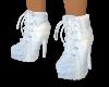 White  Hi Heel Sneekers