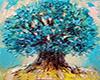 ~N~ Teal Tree Canvas