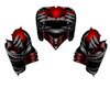 Red Blk Heart Seats