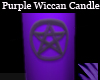 Purple Wiccan Candle