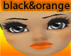 orange &black skin