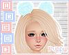 . Blue Hair Pom Poms