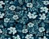 Teal Flower Studs