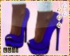 ♔ High heels blue#