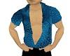 blue asian silk