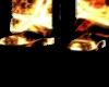 Raver flames boots
