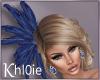 K blue hair feathers