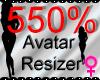 *M* Avatar Scaler 550%
