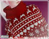 f Big red sweater