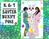 'K&T' Easter Bunny Pose