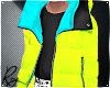 Neon Puff Coat 2
