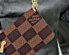 B Damier pouch