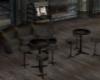 Grunge leather seating
