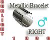 metallic bracelet right