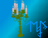 )L( Green candle holder