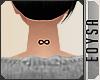 {E} Infinite Neck Tattoo