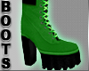 Snake Green Boots