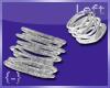 {-} Bangles Left Silver
